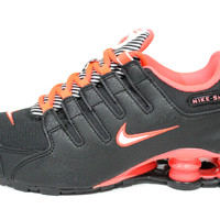 Nike Youth's Shox NZ Black/Hyper Punch Running Shoes 310480 001
