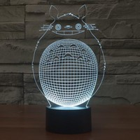 Totoro Cat 3D LED Lamp