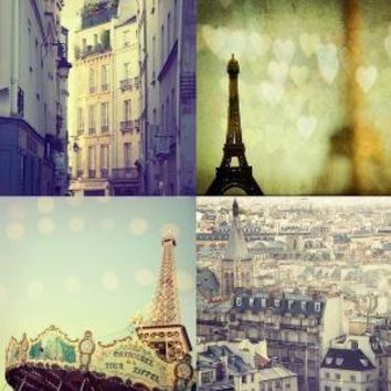 City of Love  Set of Four 5x5 Prints by irenesuchocki