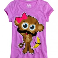Monkey Mustache Graphic Tee | Girls Graphic Tees Clothes | Shop Justice