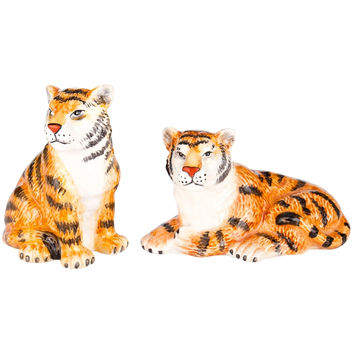 Tigers Sitting & Laying Salt & Pepper Shakers