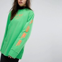 Puma Exclusive To ASOS Oversized Long Sleeve T-Shirt In Green at asos.com