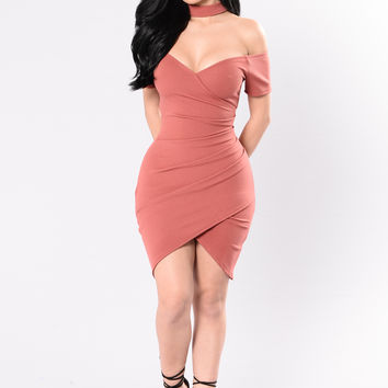 Jaded Dress - Marsala