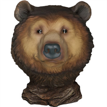Grizzly Bear Little Head Mini Figurine