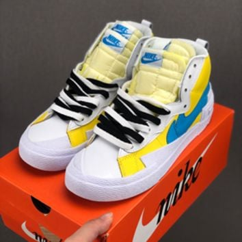 HCXX 19July 613 Nike Blazer Mid x Sacai BV0072 Causal Skateboard Shoes