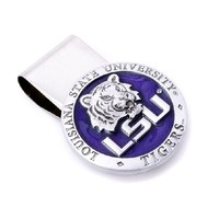 LSU Tigers Money Clip in Pewter | - Men's Jewelry - Jewelry & Gifts