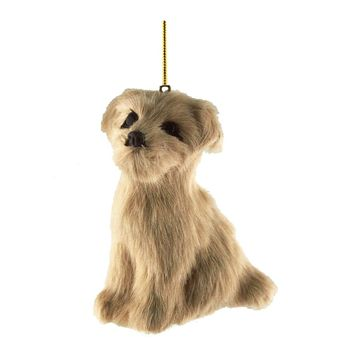 Labrador Plush Dog Christmas Ornaments, Natural, 4-Inch