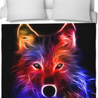 Electric Wolf Blanket