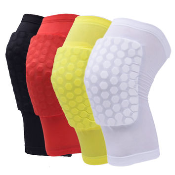 Knee Support Basketball Knee Supporter Honeycomb Sponge Pad Gel Sports Soccer Gym Brace for Riding Running Knee Protection