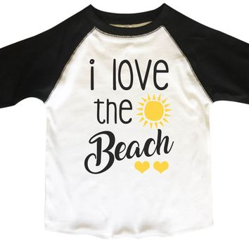 I Love The Beach BOYS OR GIRLS BASEBALL 3/4 SLEEVE RAGLAN - VERY SOFT TRENDY SHIRT B808