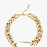 Lightweight CCB Med Chain ID Chain Necklace