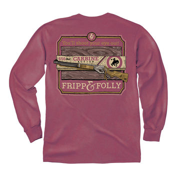 You'll Shoot Your Eye Out Long Sleeve Tee in Brick by Fripp & Folly