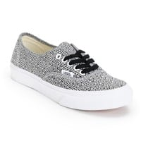 Vans Girls Authentic Slim Black & White Geo Print