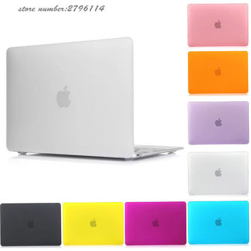 "Matte Sleeve Case For MacBook Air 13 Pro 13"" 15"" Pro 13 15 Retina Free Gift Gradient EU/UK English Keyboard Protector"