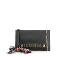 Love Moschino Black Leather Clutch Bag