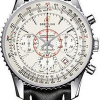 Lussotime - Breitling MontBrilliant 01 Men's Stainless Steel Watch Silver - AB0131