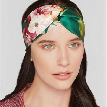 Bohemian Silk Cross Flower Ladies Headbands For Women Head Wrap