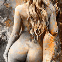 Nymph 02 - digital colored Rust Painting by Emerico Imre Toth - Nymph 02 - digital colored Rust Fine Art Prints and Posters for Sale
