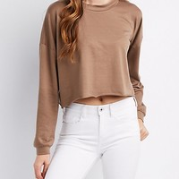 Dolman Mock Neck Crop Top | Charlotte Russe