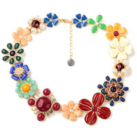 Women Trendy Luminous Floral Faux Pearl Necklace