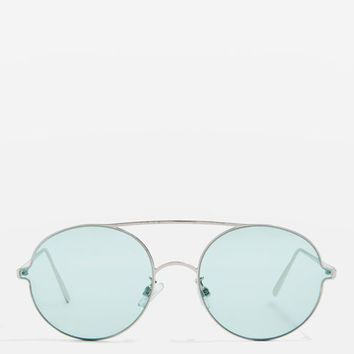Luna Round Frame Sunglasses - Sunglasses - Bags & Accessories