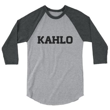 Frida Kahlo shirt 3/4 sleeve raglan shirt / frida kahlo t-shirt / frida kahlo art
