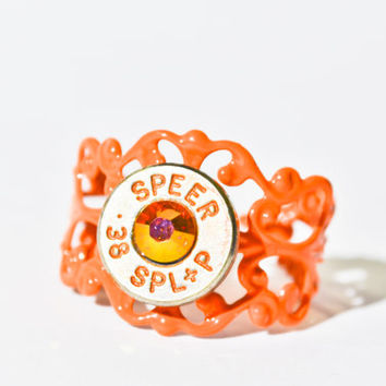 Bullet Ring - Orange Filigree Bullet Ring
