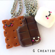 Smores Inspired Best Friends Necklace - Set of 3 - BFF friendship jewelry