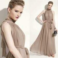 noble elegant perfect Chiffon full dress