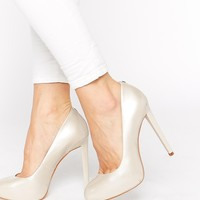Faith Cadles Oyster Patent High Heeled Court Shoes