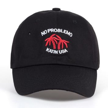 2017 Brand Coconut Trees KATIN USA Baseball Cap NO PALMBLEMO Men Women Dad Hat No Structure Cotton Snapback Caps Embroidery Bone