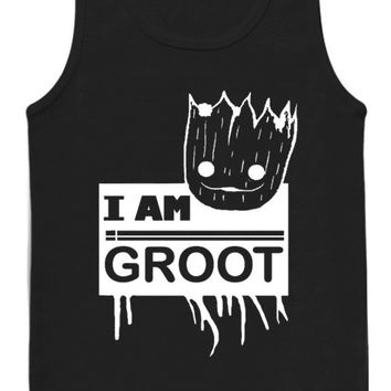 I am Groot Guardians of The Galaxy tank top for womens and mens