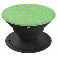 Mermaid Green Blue and Gold - PopSockets Grip and Stand for Phones and Tablets
