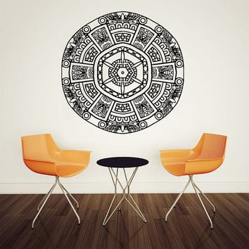 Wall Decal Vinyl Sticker Decals Art Home Decor Mural Mandala Ornament Indidan Geometric Moroccan Pattern Yoga Namaste Flower Om Bedroom AN35