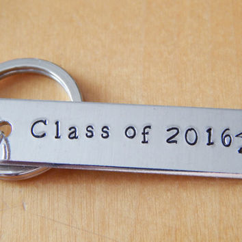 Class Of 2016 Keychain - Graduation Key Chain - Accessories Gift - Gift under 20