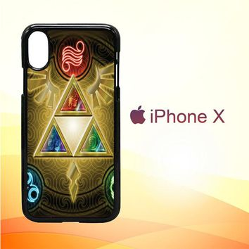 Zelda Triforce Element Z0152 iPhone X Case