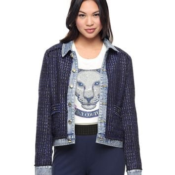 Steven Wash Mixed Denim/ Tweed Jacket by Juicy Couture,