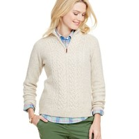 Donegal Cable 1/4-Zip Sweater