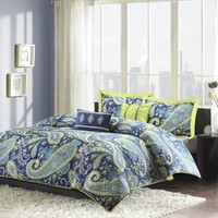 Melissa Reversible Comforter Set in Blue