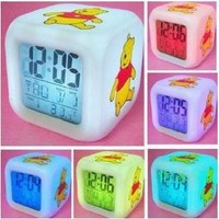 Winnie The Pooh Alarm Clock w/ Soothing Glow LED Lights And Thermometer (Packaging May Vary)