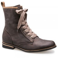 EMPRESS DARK BROWN LACE UP LEATHER BOOT