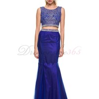 Temperament Mermaid Straps Floor Length Long Satin Prom Dress. DressOnSale365.com-Cheap And High Quality Wedding Dresses,Prom Dresses & More