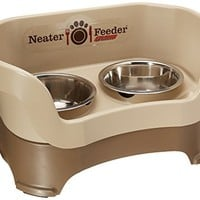 Neater Pet Brands Feeder Deluxe for Medium Dogs, Cappuccino