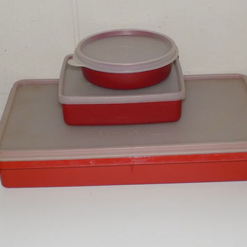 Vintage Tupperware Lunchmeat Keeper, Sandwich Keeper, Side Bowl