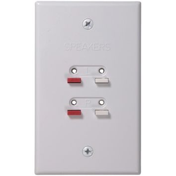 Rca Stereo Speaker Wire Wall Plate (white)