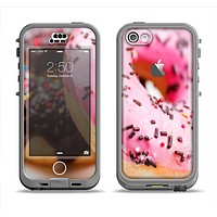 The Sprinkled Donuts Apple iPhone 5c LifeProof Nuud Case Skin Set