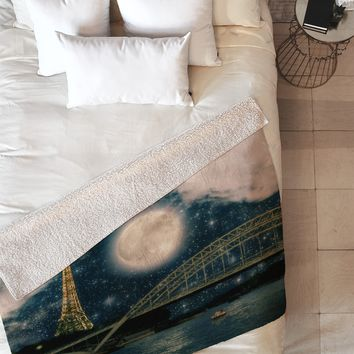 Belle13 Paris Romance Fleece Throw Blanket