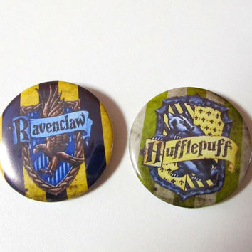 "2""Harry Potter Hogwarts Houses,  50mm Pinback buttons 5 to choose from, Hogwarts houses crests, Gryffindor,Hufflepuff,Ravenclaw,Slytherin,"