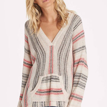 Billabong - Island Baja Hooded Beach Sweater | White Cap