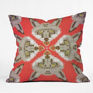 Chobopop Silver Fox Pattern Throw Pillow